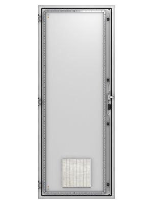Single-wing door with ventilation IP 54 for Industrial Modular Cabinets